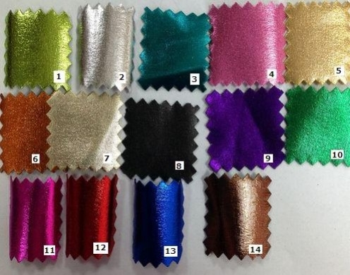 POLY SPANDEX KNIT COLOR FOIL PRINTED 58''